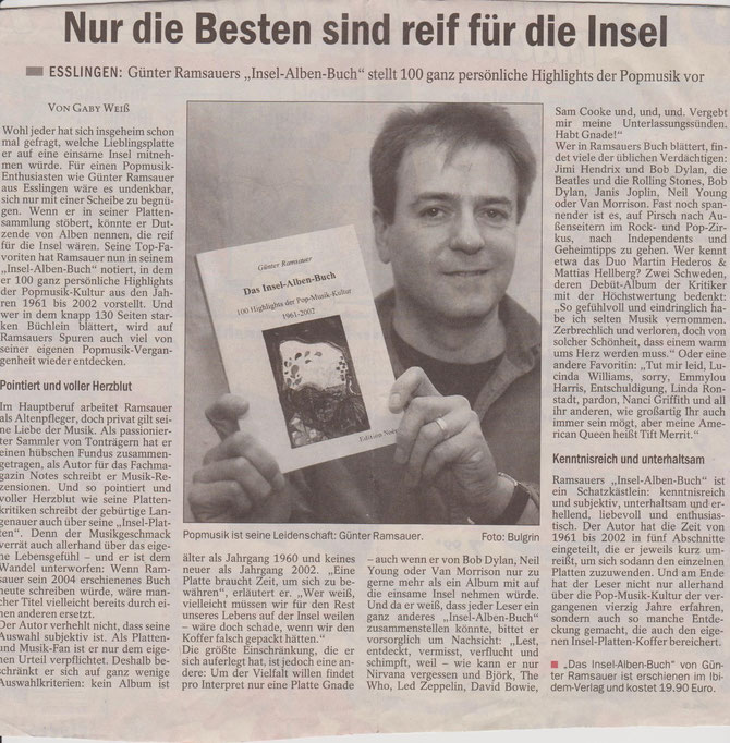Esslinger Zeitung 31.10.2005