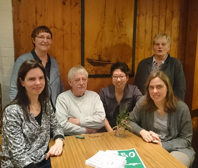 v.l.: Jennifer Oest, Waltraud Bürhaus, Heinz Böhl, Judith Bürhaus, Margret Böhl und Katja Schulte