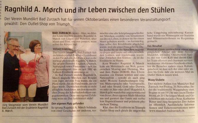 Zeitungsartikel Ragnhil A Morch - Die Borschaft