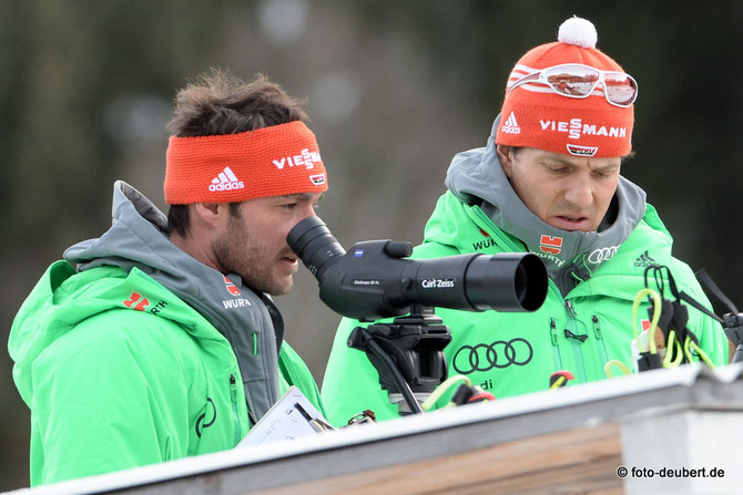 Disziplin-Trainer LG II Kristian Mehringer und Cheftrainer Nachwuchs Ilmar Heinicke