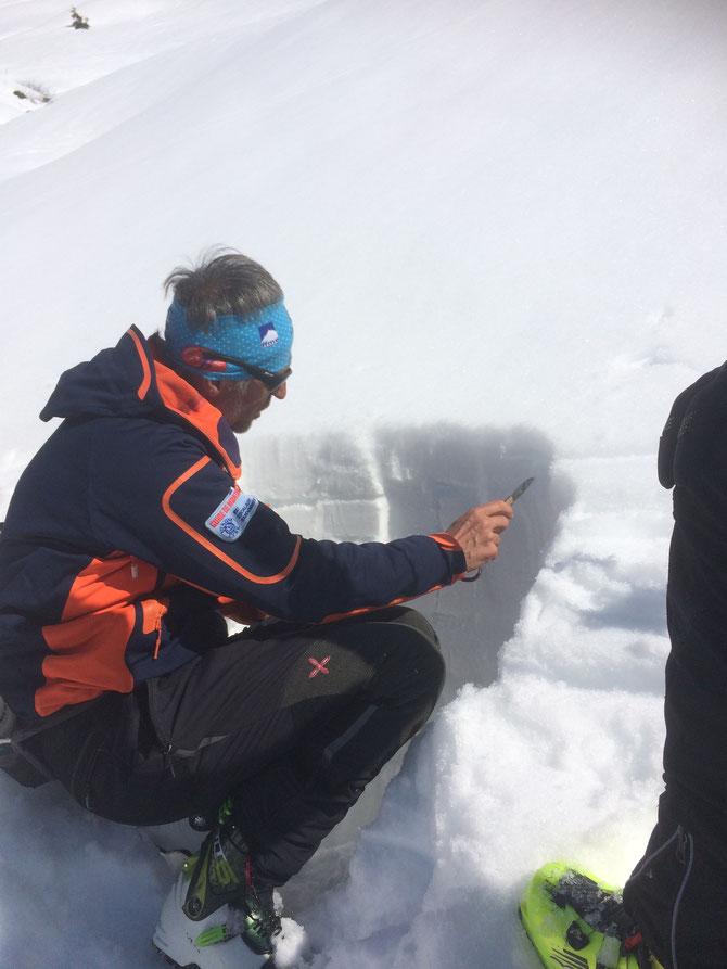 Coupe du manteau neigeux et étude de celui-ci