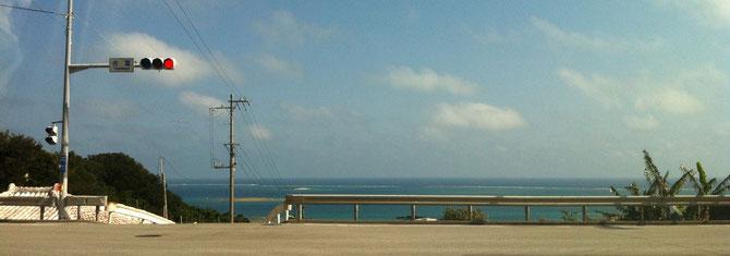 沖縄 ニライカナイ橋 終点景色