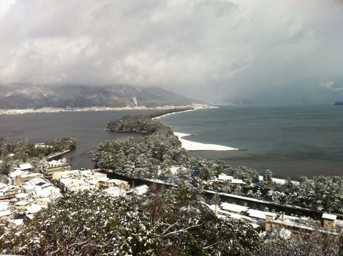 天橋立 雪景色