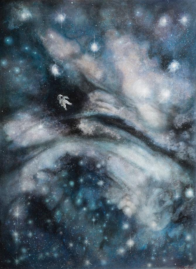 "Lukas Johannes Aigner, ""Figment of Imagination"", Acryl auf MDF, 200x140cm, 2014"