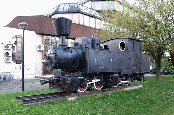 Vapeur système Mallet 020-020 du train forestier du Steinbeisbahn à Banja-Luka