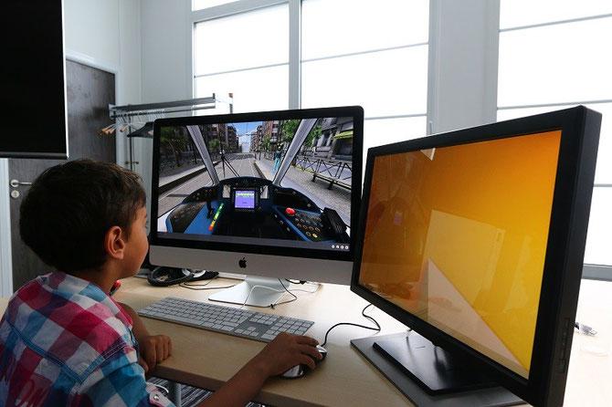 photo simulateur de conduite de tramway