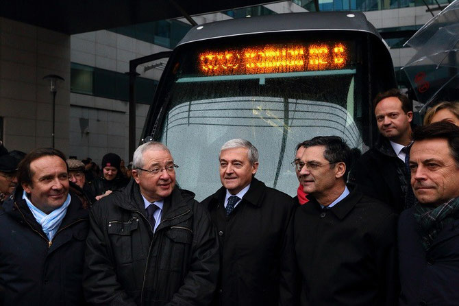 Inauguration tramway T6. 13 décembre 2014. Châtillon-Montrouge