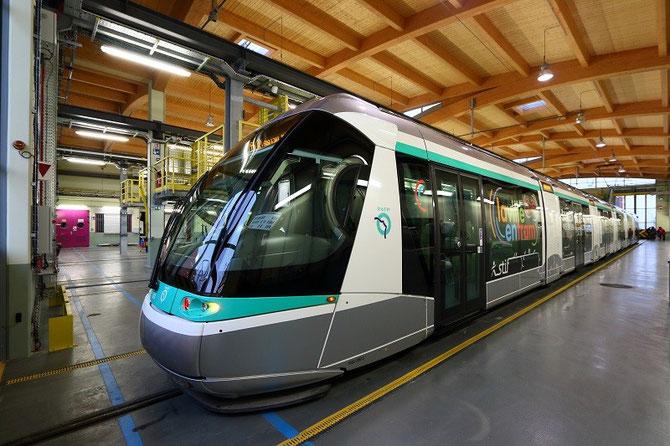 Rame Translohr STE6. Tramway T6. Vélizy-Villacoublay