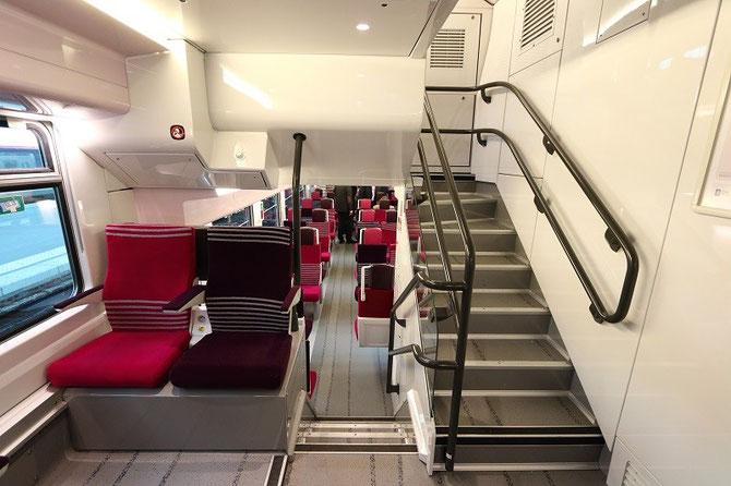 Accès salles voyageurs automotrice Regio 2N