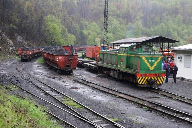 Locomotive diesel 740-113 à Banovici. Réseau industriel à voie de 760 mm des mines de Grivice et Turija