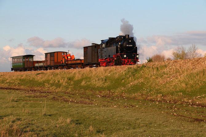 Visite en Baie de Somme de cette locomotive des chemins de fer du Harz lors du festival vapeur d'avril 2016.