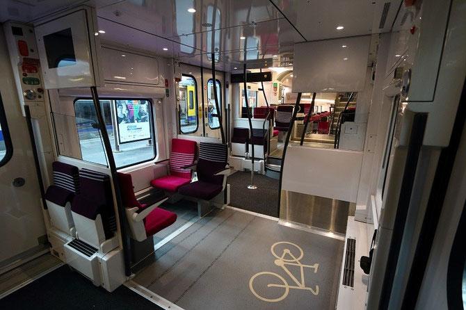 Emplacement vélos automotrice Regio 2N Bombardier