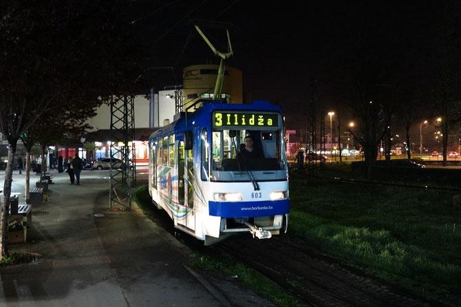 Tramway de Sarajevo au terminus d'Ilidža