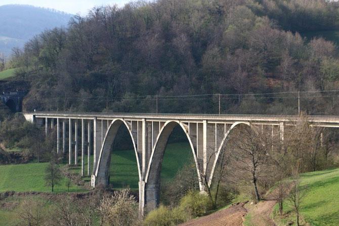 Viaduc de Pazarić sur la ligne Sarajevo - Mostar