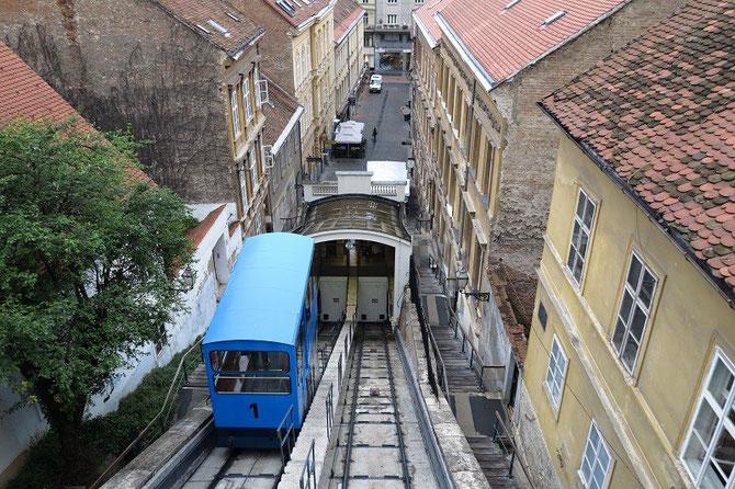 Le funiculaire de Zagreb