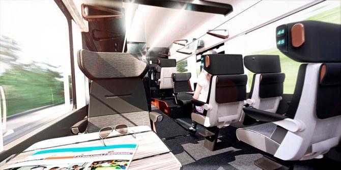 Aménagement de première classe du Coradia Liner. Document Alstom