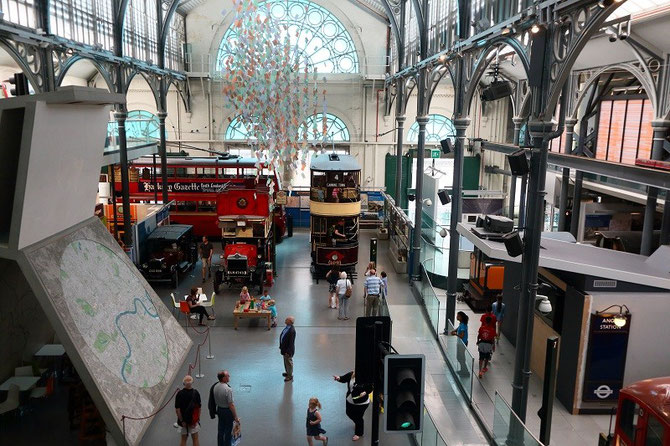 Vue d'ensemble du London Transport Museum