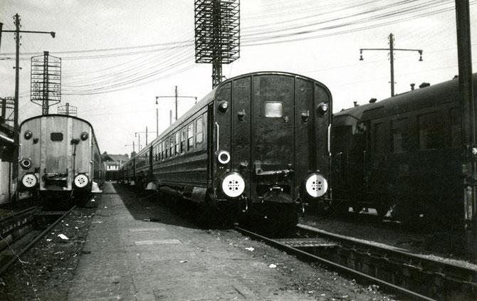 Rames sur pneus. Garages de l'Ourcq. 1950