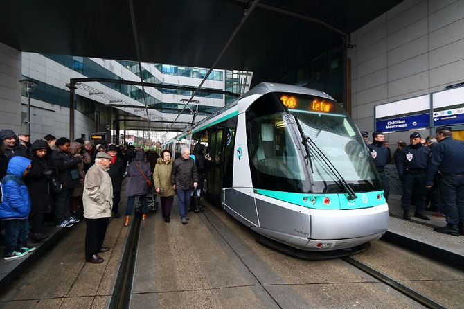 Paris. RATP. Inauguration ligne T6