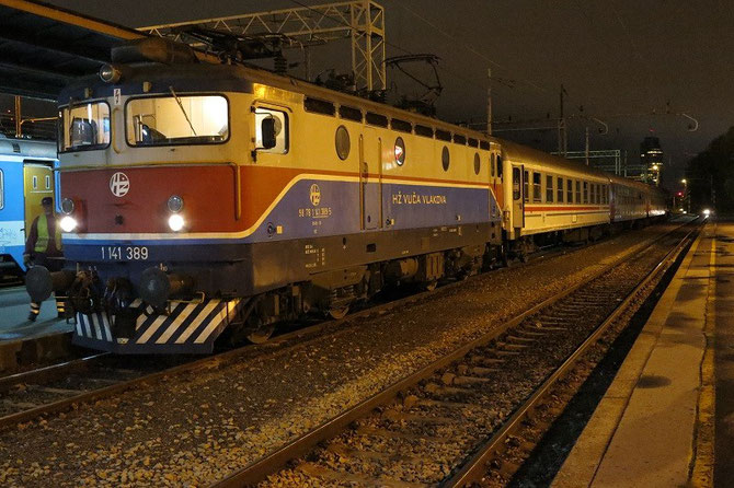 En septembre 2012, arrivée à Zagreb d'un train en provenance de Rijeka. En avril 2014, la capitale croate sera le point de départ et d'arrivée du voyage organisé par PTG Tours en Croatie et en Bosnie-Herzégovine. Cliché Pierre BAZIN