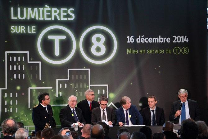 Discours d'inauguration du tramway T8. Intervention de Pierre Mongin président de la RATP. 16 décembre 2014