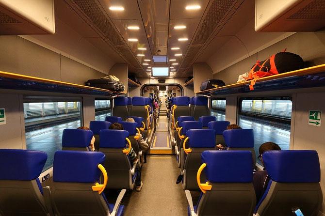 "Aménagement intérieur automotrice ETR 425 Trenitalia ""Leonardo Express"""