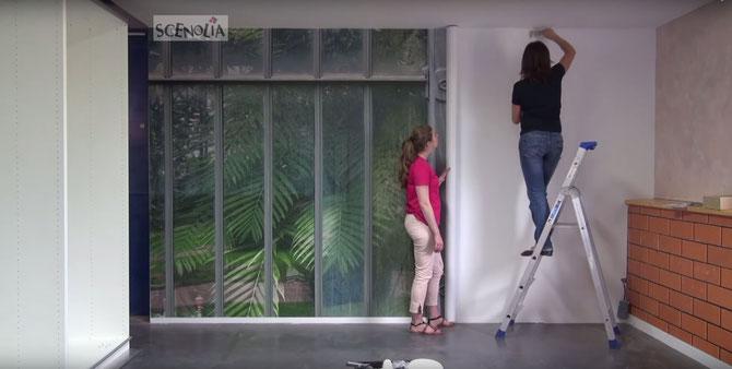 Decoration-murale d'une chambre-papier peint panoramique