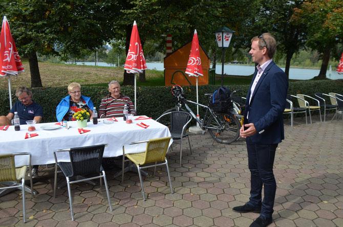 DI Andreas Sucher (Sportstadtrat von Villach) überbrachte die Grüße und Glückwünsche der Stadt Villach zum 20jährigen Jubiläum