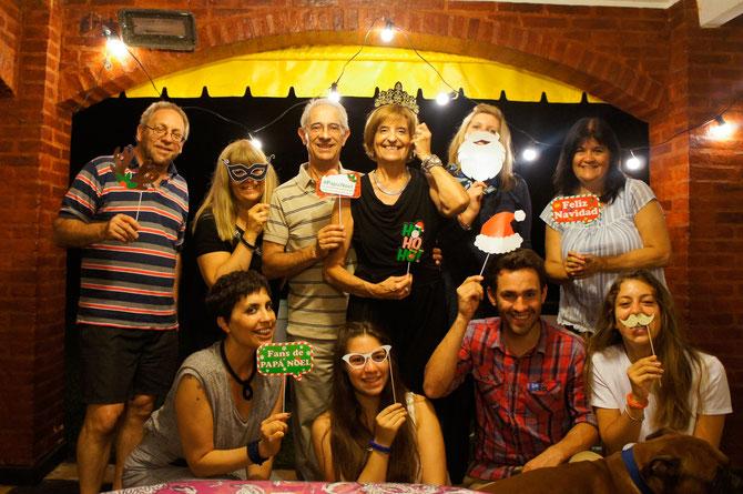 Weihnachtsfeier mit Camis Familie in deren Ferienhaus