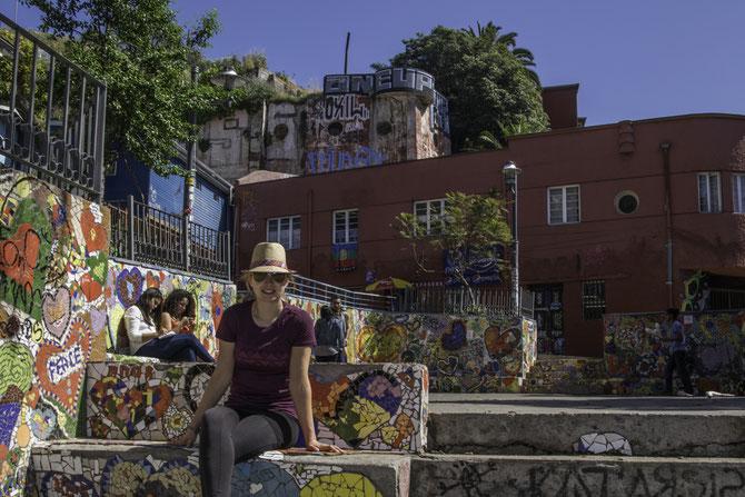"""Bemalte Wände und Treppen finden sich in """"Valpa"""" überall"""