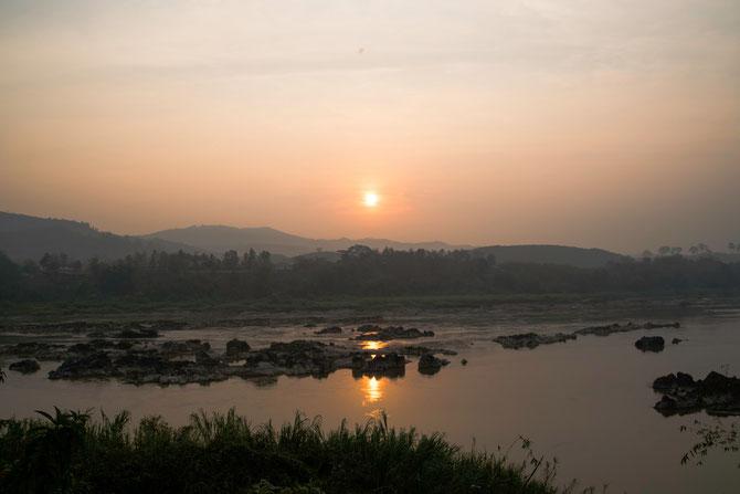 Morgensonne über Laos