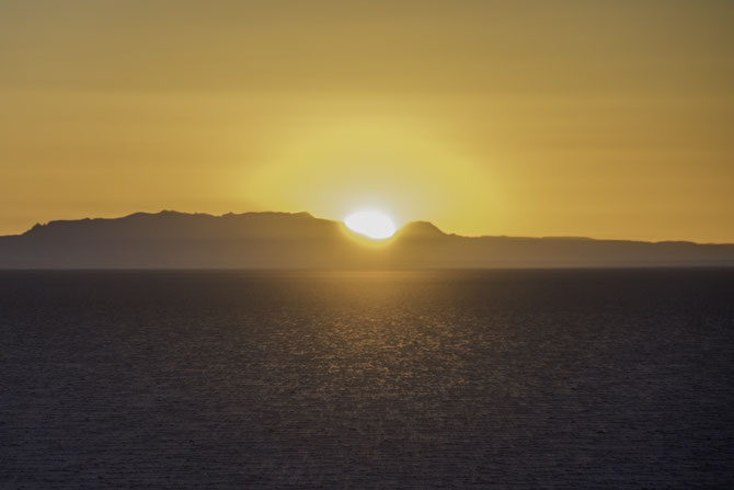 Sonnenuntergang im Salar de Uyuni