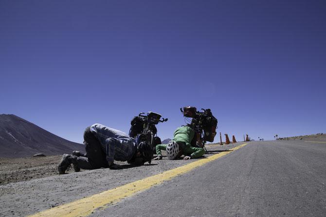Nach der chilenischen Grenze endlich wieder Asphalt!