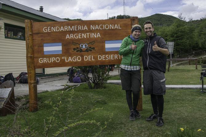 Geschafft! Ankunft am argentinischen Grenzposten