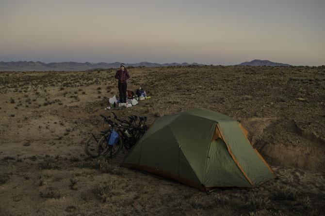 Einer der kalten Zeltplätze auf dem Altiplano