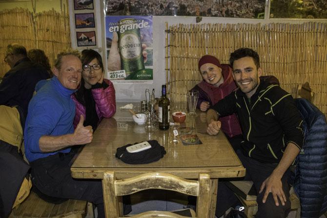 Abendessen mit Pascal und seiner peruanischen Freundin in Uyuni