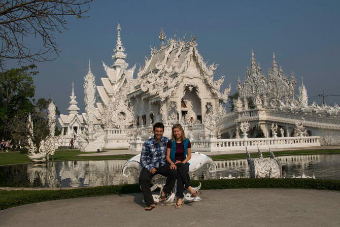 Der weisse Tempel in Chiang Rai