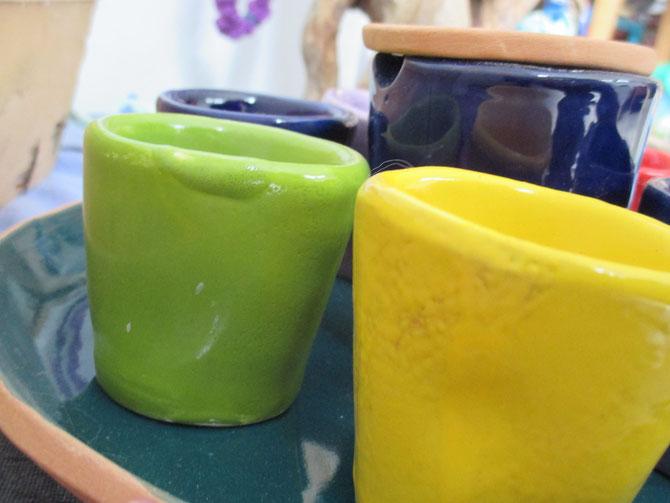 Tazzine e zuccheriera in ceramica Le Terre di Rò