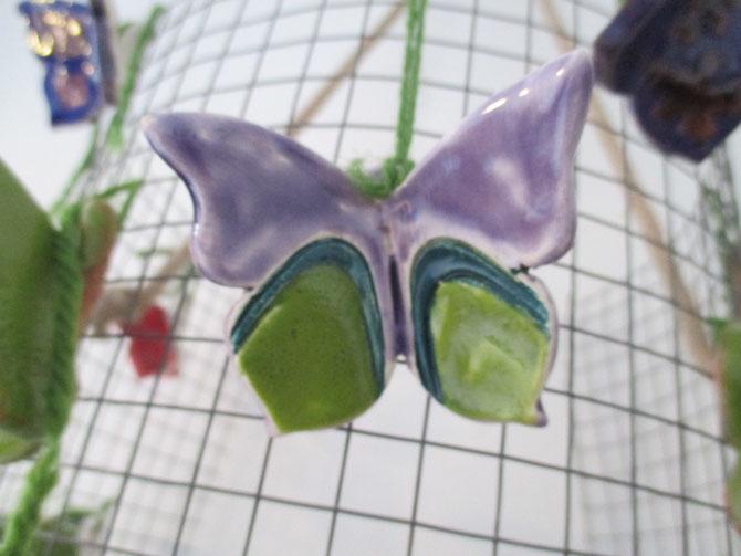 Farfalla in ceramica. Le Terre di Rò