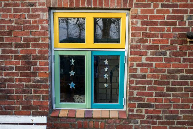 bunter Fenster