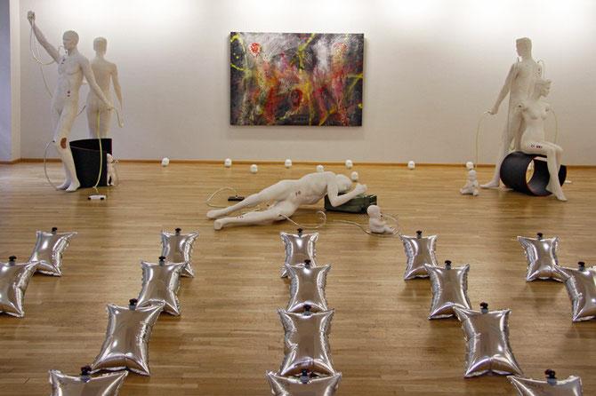 ausstellung in der städtischen galerie im kulturzentrum saalbau homburg, foto: peter köcher
