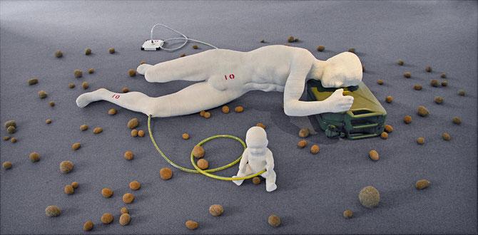 ein mitglied der kunstbevölkerung, schläfer