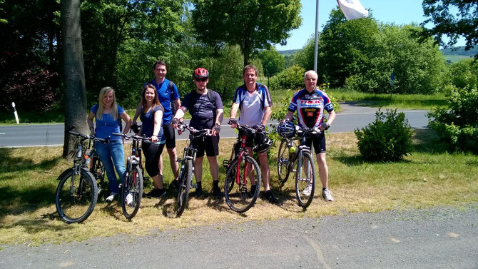 Kleine Truppe bei der diesjährigen Radtour