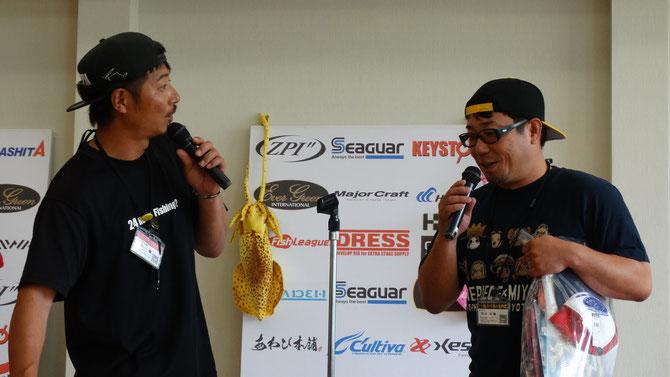 3位は井本高雅さん(39) 記録2.41kg すでに優勝レベルの重量ですよ!!