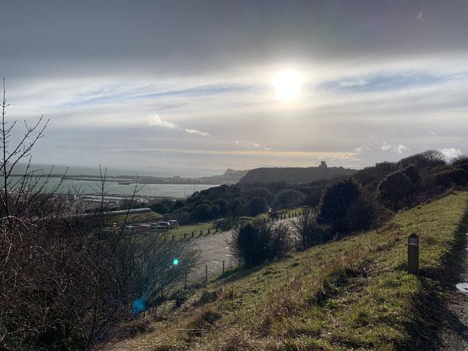Aussicht White Cliffs of Dover
