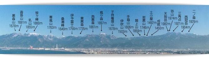 愛媛県西条市の山々