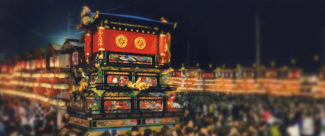 福武天皇屋台(昭和4年製作|近藤泰山彫刻)