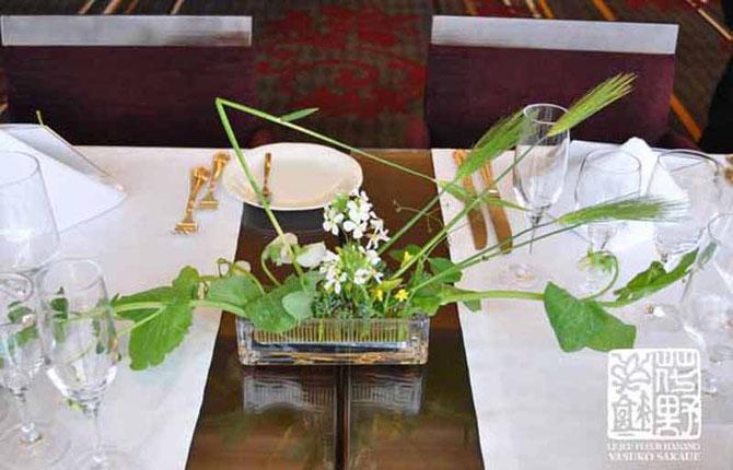 ●テーブル/ムギ エンドウマメ ダイコンノハナ