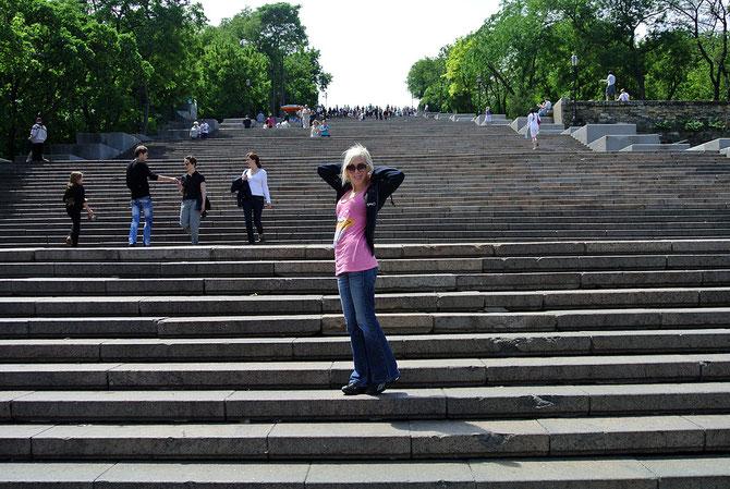 Die Potemkinsche Treppe, eines der Wahrzeichen von Odessa