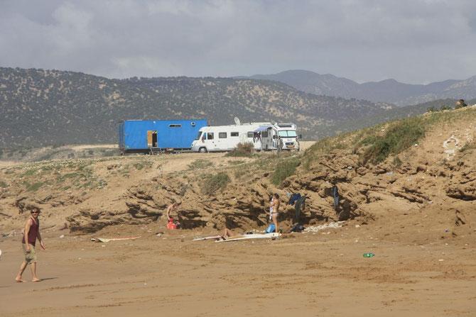 het strand van Taghazoute